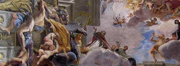 Rome plafond baroque