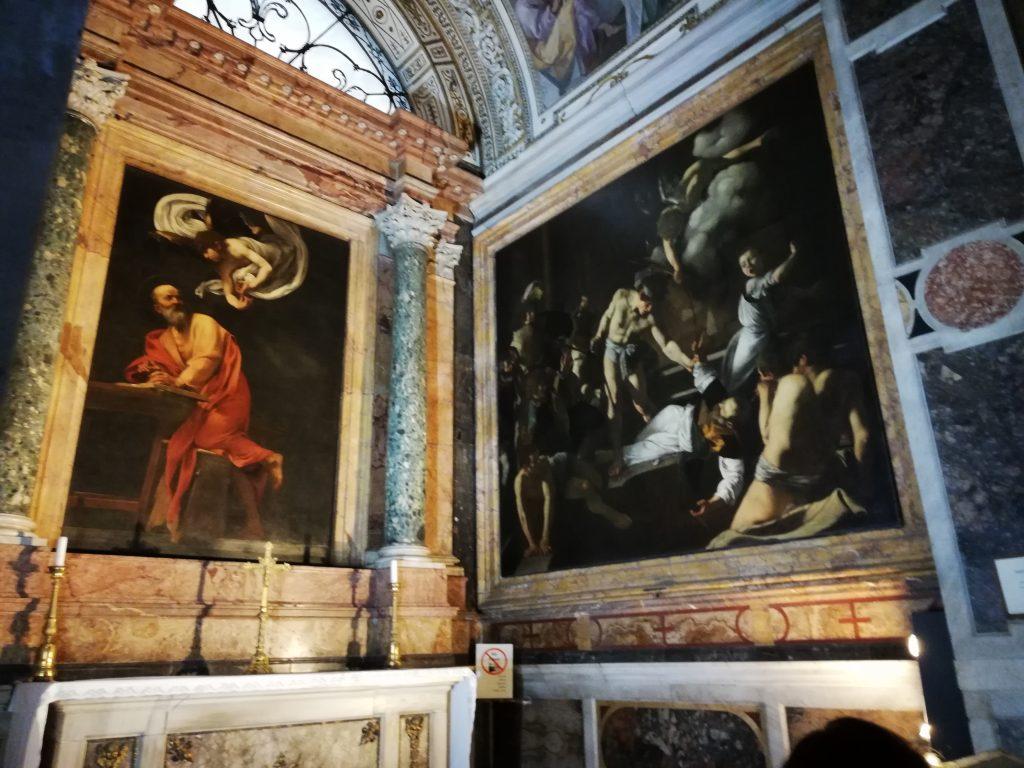 Chapelle Contarelli dans l'église de saint Louis des français à Rome