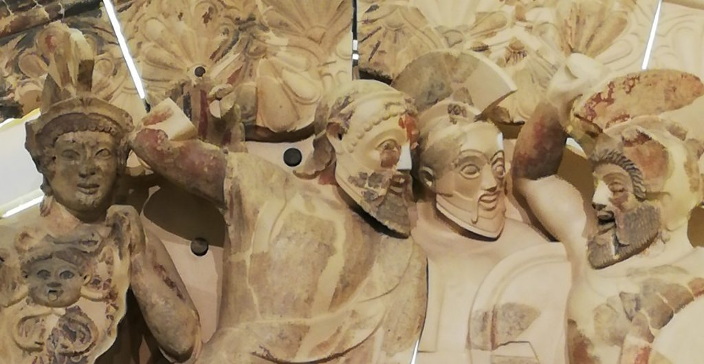 musée étrusque les Sept contre Thèbes