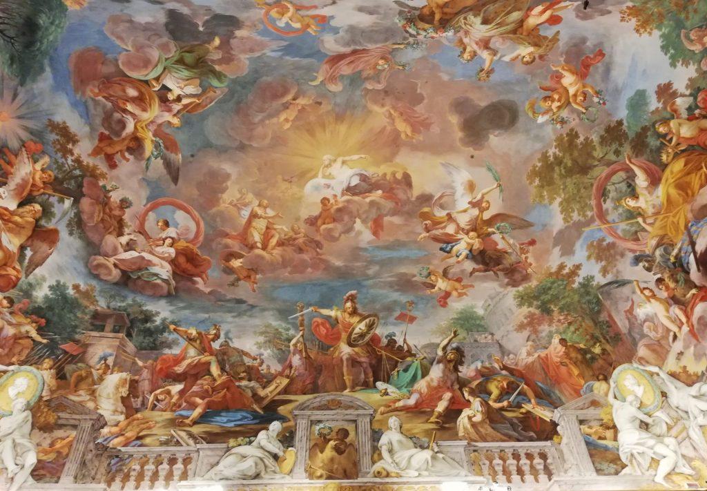 plafonds baroques galerie Borghèse