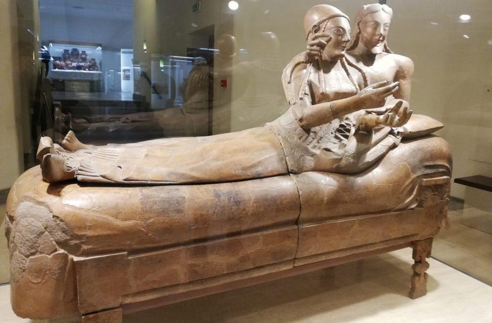 musée étrusque de Villa Giulia tombeau des époux