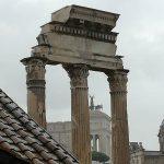 colonnes du temple de Castor et Pollux au forum