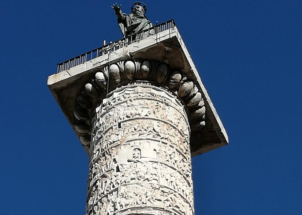 colonne de Marc-Aurèle et rue du Corso