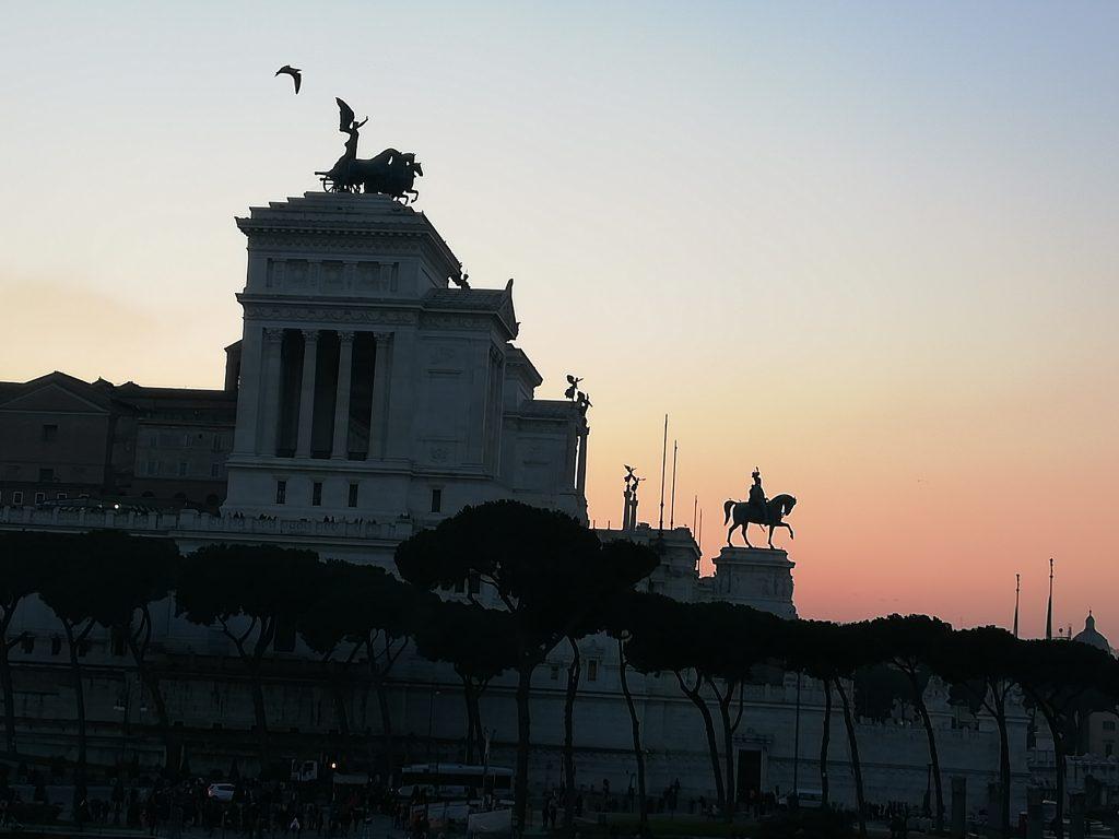 Rome au couché du soleil