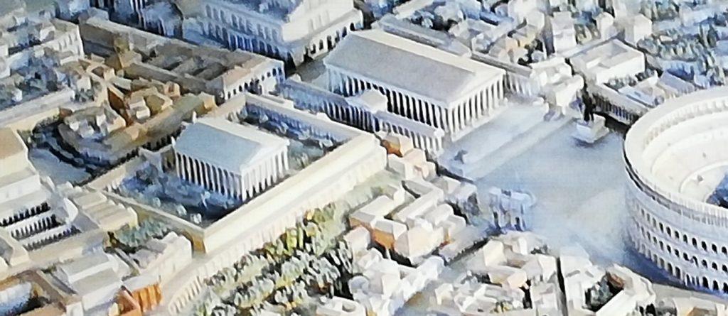 maquette de la Rome antique